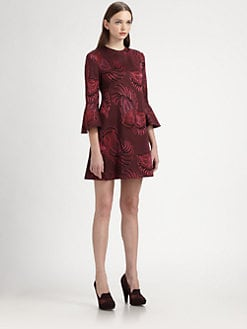 Stella McCartney - Elisabetta Bell-Sleeved Brocade Dress