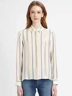 Stella McCartney - Striped Silk-Blend Blouse