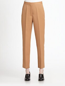 Stella McCartney - Delphine Wool Straight-Leg Ankle Pants