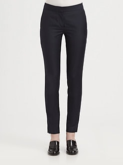 Stella McCartney - Cropped Wool Skinny Pants
