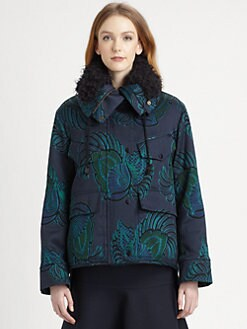 Stella McCartney - Floral-Patterned Shearling-Lined Coat
