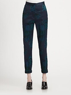 Stella McCartney - Cropped Floral-Patterned Straight-Leg Pants