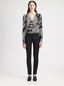 Stella McCartney - Striped Silk Blouse