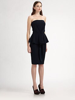 Stella McCartney - Strapless Silk Peplum Dress