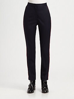 Stella McCartney - Piped Wool Straight-Leg Pants