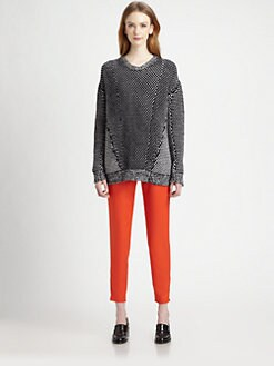 Stella McCartney - Wool & Angora Pattern-Blocked Sweater