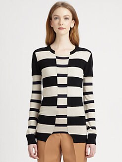 Stella McCartney - Wool & Silk Stripe-Blocked Sweater