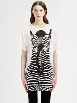 Stella McCartney - Zebra-Print Cotton Jersey Tee