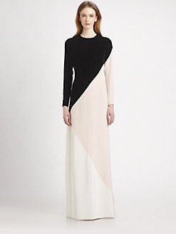 Stella McCartney - Colorblock Velvet Gown