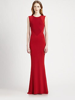 Stella McCartney - Paneled Stretch Jersey Gown