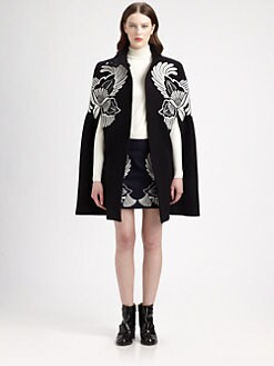 Stella McCartney - Embroidered Wool Cape