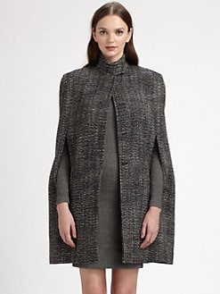 Stella McCartney - Wool-Blend Tweed Cape
