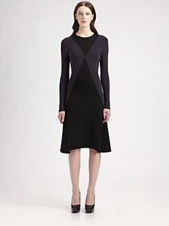 Stella McCartney - Diamond Colorblock Dress