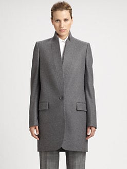 Stella McCartney - Wool/Cashmere Stand-Collar Coat