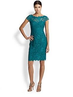 ML Monique Lhuillier - Lace Sheath Cocktail Dress