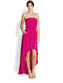 Jay Godfrey - Bianca Silk Hi-Lo Dress
