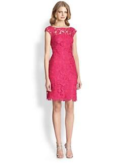 ML Monique Lhuillier - Cap-Sleeve Lace Dress