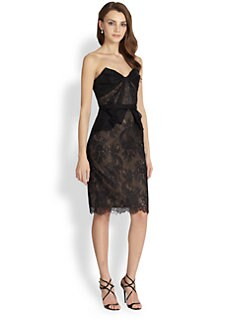 Notte by Marchesa - Strapless Lace & Organza Dress
