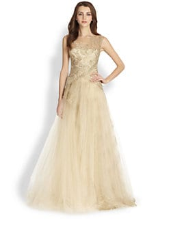 Notte by Marchesa - Metallic Lace & Tulle Ball Gown