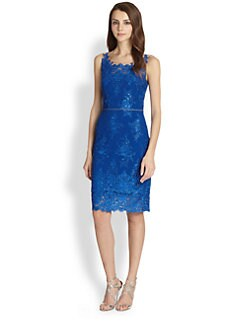 Notte by Marchesa - Embroidered Lace Cocktail Dress