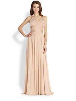 Notte by Marchesa - Silk Chiffon Strapless Gown