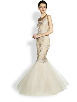 Notte by Marchesa - Re-Embroidered Lace & Tulle Mermaid Gown