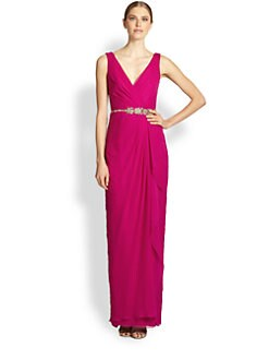 Notte by Marchesa - Silk Chiffon Wrap Gown