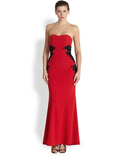 ML Monique Lhuillier - Strapless Crepe Gown