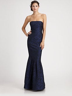 ML Monique Lhuillier - Strapless Trumpet Gown
