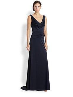 ML Monique Lhuillier - Draped Jersey Gown