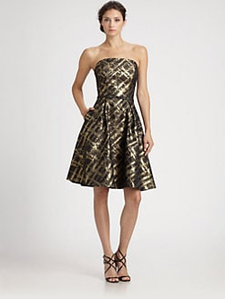 ML Monique Lhuillier - Brocade Dress