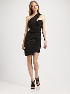 Robert Rodriguez - One-Shoulder Asymmetric Mini Dress