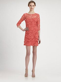 Notte by Marchesa - Lace Trapeze Dress