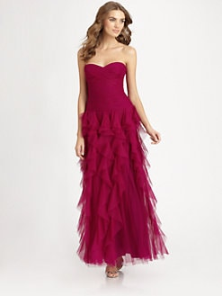 ML Monique Lhuillier - Ruffled Gown