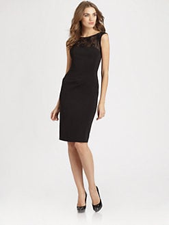ML Monique Lhuillier - Lace-Trimmed Dress