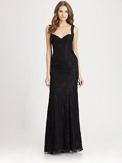 ML Monique Lhuillier - Silk Fishtail Gown