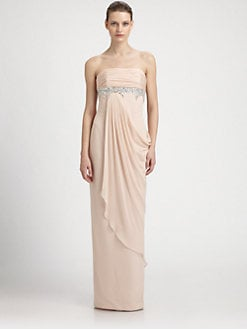 Notte by Marchesa - Beaded Silk Dress