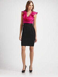 Jay Godfrey - Ruffle Neck Dress