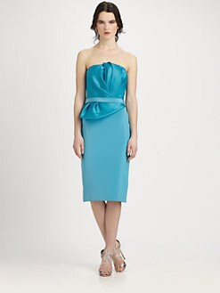 Notte by Marchesa - Strapless Drape Dress