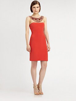 Notte by Marchesa - Silk Crepe Necklace Dress