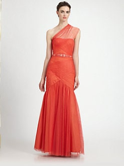 ML Monique Lhuillier - Tulle Trumpet Gown