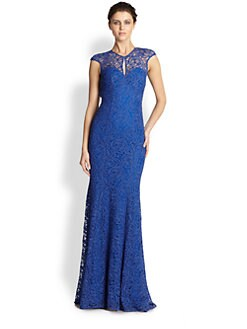 ML Monique Lhuillier - Lace Gown