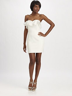 Jay Godfrey - Strapless Ruffle Dress