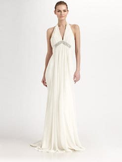 Notte by Marchesa - Silk Halter Gown
