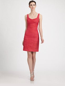 ML Monique Lhuillier - Ruched Tulle Dress