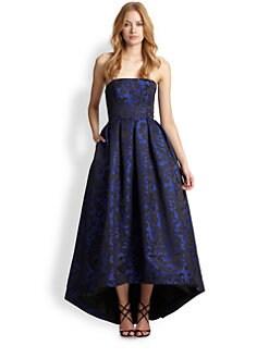 ML Monique Lhuillier - Strapless Brocade Gown