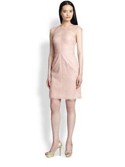 ML Monique Lhuillier - Lace Cap-Sleeve Dress