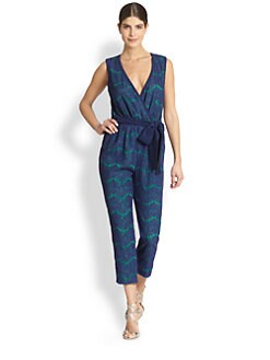 Jay Godfrey - Crawford Lace-Print Cropped Jumpsuit