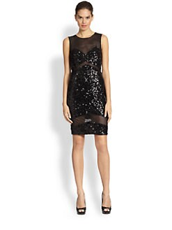 Jay Godfrey - Hudson Sequin & Mesh Dress