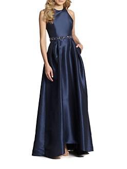 ML Monique Lhuillier - Cross-Back Beaded Gown